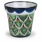 Small Peacock Design Talavera Flower Pot