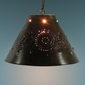 Small Punched Marble Hanging Shade Lamp
