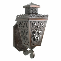 Small Punched Tin Colonial Wall Sconce