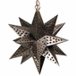 Small Punched Tin Hanging Star Fixture
