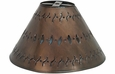 Small Punched Tin Lamp Shade