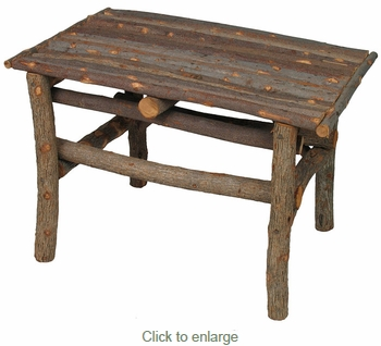 Small Rustic Twig Side Table - With Bark