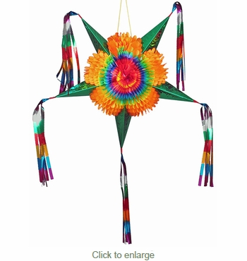 Small Star Pinata Decoration - Fiesta Decorations - Set of 2