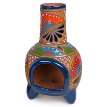 "Small Talavera Chiminea - 15.75"" Tall"