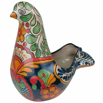 Small Talavera Dove Flower Pot