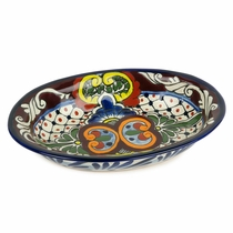 Small Talavera Oval Serving Dish