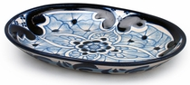 Small Talavera Sauce Dish - Blue & White