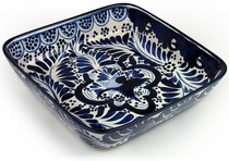 Small Talavera Square Casserole Dish - Blue & White