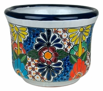 Small Talavera Squash Flower Pot