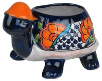 Small Talavera Turtle Flower Pot