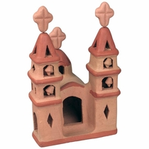 Small Terra Cotta Mission - Set of Two