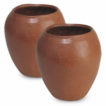 Small Terra Cotta Smooth Flower Pots - Set of 2