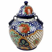 Small Traditional Talavera Ginger Jar