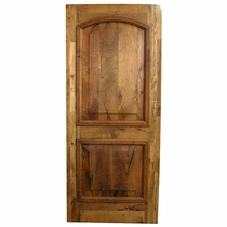 Solid Mesquite Arched Door