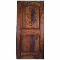 Solid Mesquite Door with Carving