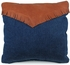 Southwest Denim and Leather Fringe Pillows - Set of 2 - 15
