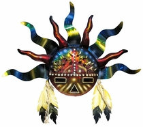 Southwest Indian Sun 3D Metal Wall Art Sculpture