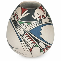 Southwest Mata Ortiz Vase with Rabbits