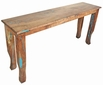 Southwest Mesquite Sofa Table with Turquoise Inlay