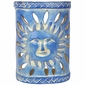 Sun Face Southwest Painted Clay Wall Sconce