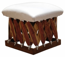 Square Cushioned Footstool