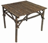 Square Rustic Twig Patio Table - With Bark