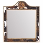 Square Western Lone Star Mirror with Cowhide Frame