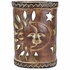 Sun & Moon Southwest Painted Clay Wall Sconce