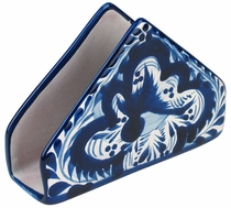 Talavera Blue & White Napkin Holder