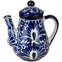 Talavera Blue & White Tea Pot
