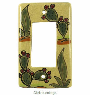 Talavera Cactus Single Rocker Cover