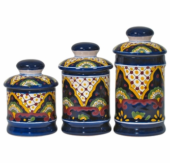 Talavera Canisters Set Of 3
