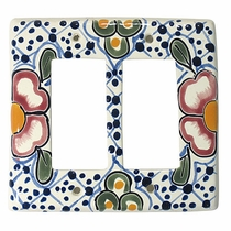 Talavera Ceramic Double Rocker Switch Plate