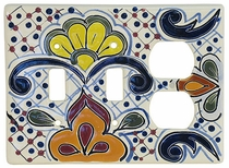 Talavera Ceramic Double Switch Outlet Plate PL14