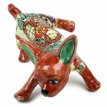 Talavera Chihuahua Leg Lifted - Assorted Colors