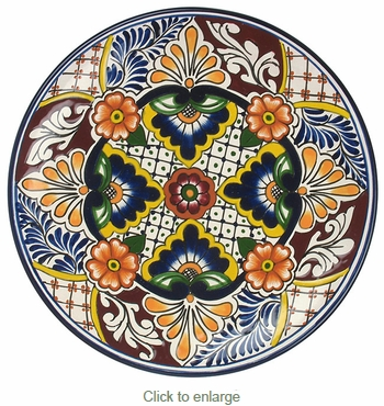 Talavera Dinner Plate - TP2332  sc 1 st  Direct From Mexico & Talavera Hand Painted Mexican Plate - TP2332