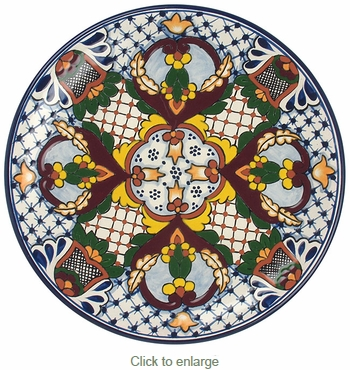 Talavera Dinner Plate - TP2333  sc 1 st  Direct From Mexico & Ceramic Talavera Dinner Plate - TP2333