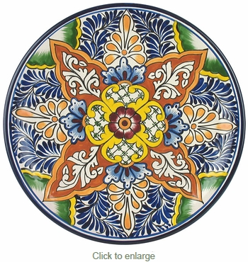 Talavera Dinner Plate - TP2334  sc 1 st  Direct From Mexico & Talavera Dinner Plate - TP2334 - Wall Hanging Plate