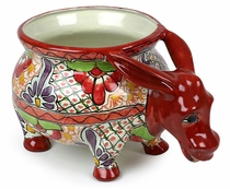 Talavera Donkey Planter Pot