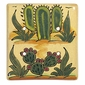 Talavera Double Blank Plate - Cactus