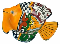 Talavera Fish Ashtray or Candy Dish