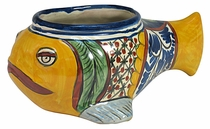 Talavera Fish Flower Pot
