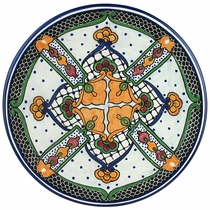 Talavera Folk Art Dinner Plate - TP2007L