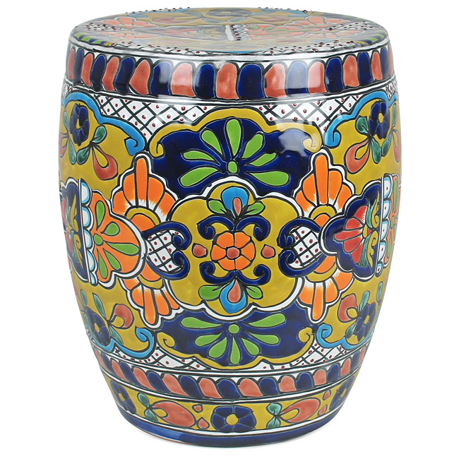 sc 1 st  Direct From Mexico & Talavera Garden Stool - Mexican Garden Decor islam-shia.org