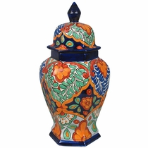 Talavera Ginger Jar Hexagonal