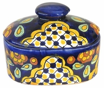 Talavera Jewelry Box with Knob Lid