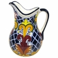 Talavera Mexican Pitcher - Yellow Cross Pattern