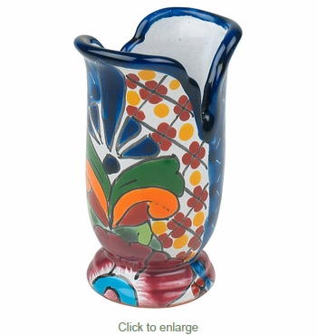 Talavera Mini Crown Vase