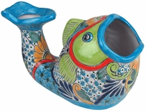 Talavera Open Mouth Fish Pot