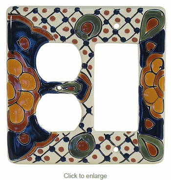 Talavera Outlet & Rocker Switchplate PL13